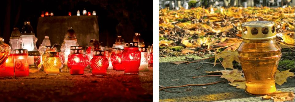 Grablichter und Grablaternen