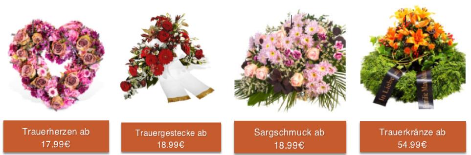 Preise für Trauerfloristik