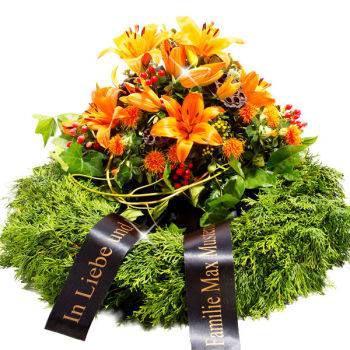 Eine Grafik zu Trauerkranz für die Beerdigung und das Grab