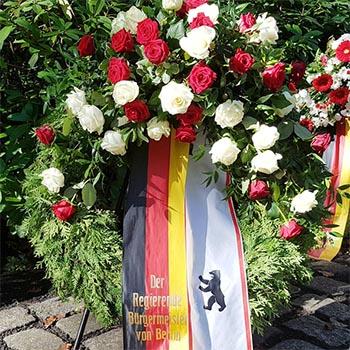 Eine Grafik zu Grab von Willy Brandt in Berlin