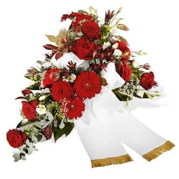 Eine Grafik zu Trauersträuße mit Rosen & Schleifen bestellen