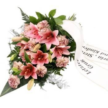 Eine Grafik zu Trauersträuße mit Lilien & Schleifen bestellen ab 20 €