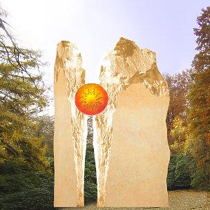 Eine Grafik zu Besondere Grabsteine für Einzelgäber