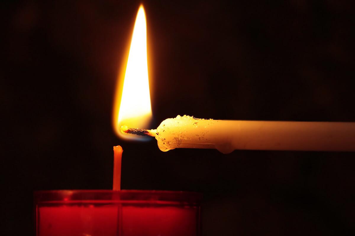 Totensonntag Kerze